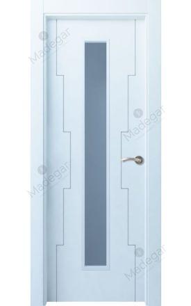 Puerta interior actual lacada Innova, termo-acústica ld7 Callecs 1VLC, blanco. Madegar