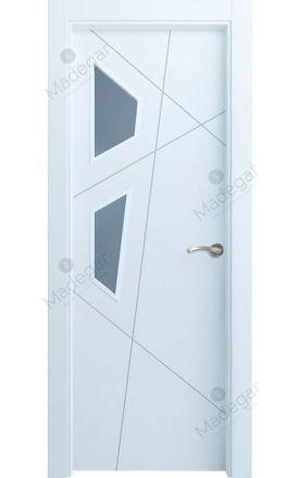 Puerta interior actual lacada Innova, termo-acústica ld7 Riaño 2VE, blanco. Madegar