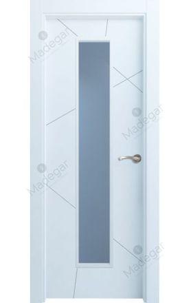 Puerta interior actual lacada Innova, termo-acústica ld7 Riaño 1VLCP, blanco. Madegar