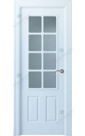 Puerta interior clásica lacada Arc, termo-acústica ld7 R-Rodeno 8V, blanco. Madegar