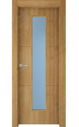 Puerta interior actual madera Nature, maciza ld3 Lin R2 1VLCP, roble V. Madegar