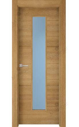 Puerta interior actual madera Nature, maciza ld3 Lin R2 1VLCP, roble H. Madegar