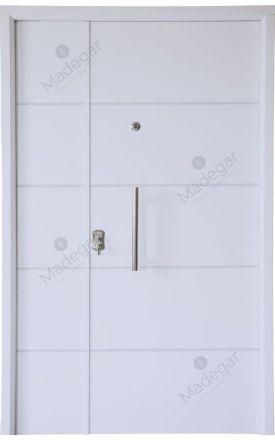 Puerta entrada seguridad acorazada metálica BL Verona - blanco ral 9003 / Lisa. Cearco