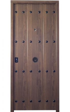 Puerta entrada seguridad acorazada metálica B4 Alborán / Lisa. Cearco