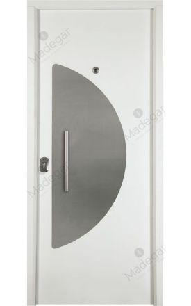 Puerta entrada seguridad acorazada metálica B4 Arco Inox / Lisa. Cearco