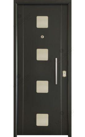 Puerta entrada seguridad acorazada metálica B4 Milán 4 Inox / Lisa. Cearco