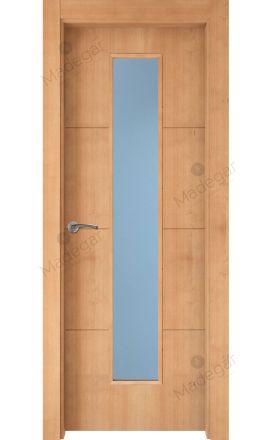 Puerta interior actual madera Nature, maciza ld3 Lin R3 1VLCP, haya V. Madegar