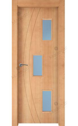 Puerta interior actual madera Nature, maciza ld3 Ordesa 2 3V, haya V. Madegar