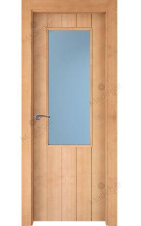 Puerta interior actual madera Nature, maciza ld3 Kobetas 1V, haya V. Madegar