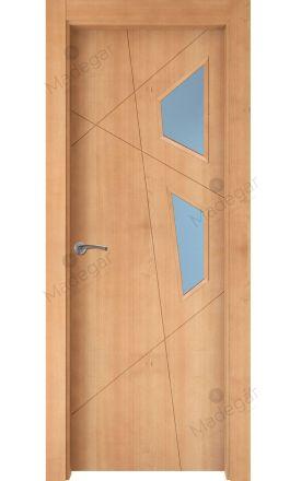 Puerta interior actual madera Nature, maciza ld3 Riaño 2VE, haya V. Madegar