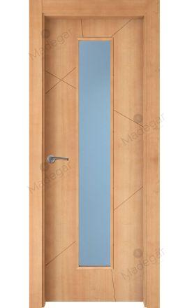 Puerta interior actual madera Nature, maciza ld3 Riaño 1VLCP, haya V. Madegar