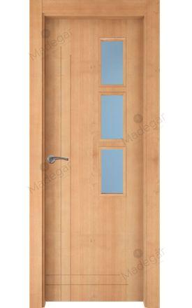 Puerta interior actual madera Nature, maciza ld3 Cedro 3VD, haya V. Madegar