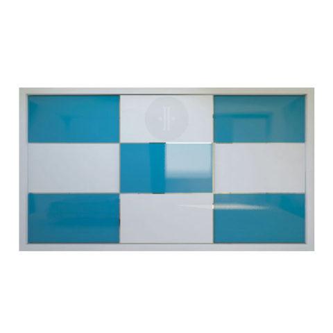 Armario-de-diseno-corredera-Lacado-fondo-combinación-color-azul-y-blanco-Modelo-VIDRIO-5-X