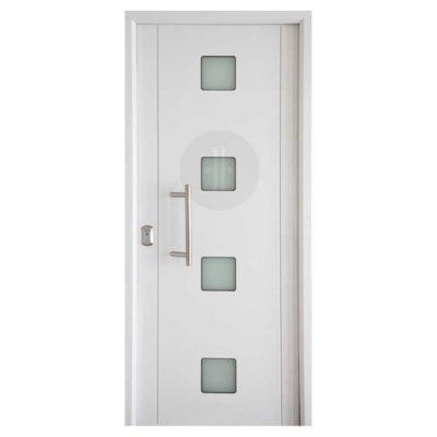 Puerta-de-entrada-exterior-acorazada-Modelo-Milan-4-Glass-Blanca