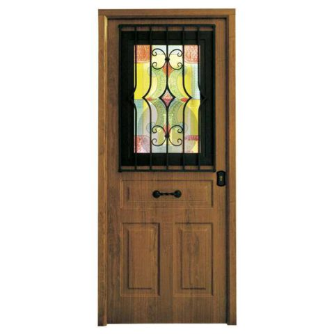 Puerta-de-entrada-exterior-acorazada-antique-con-ventana-rustica
