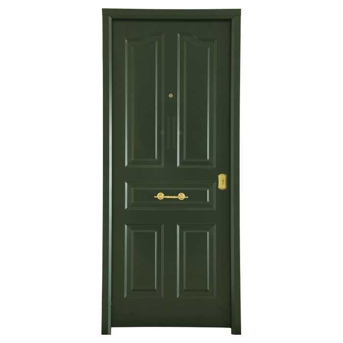 Puerta-de-entrada-exterior-acorazada-antique-verde