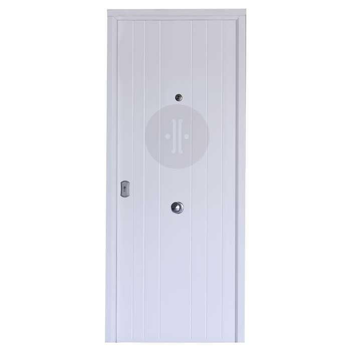 Puerta de entrada exterior de seguridad acorazada en for Puertas de exterior