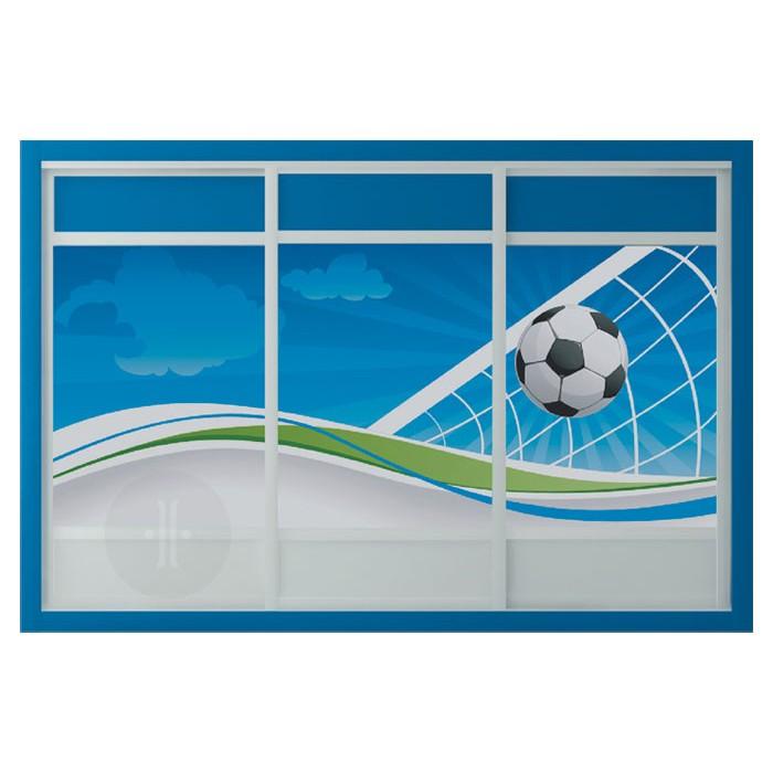 Vinilo-ilustración-de-campo-de-futbol-para-armario-de-diseno-3-puertas-de-corredera-Modelo-F