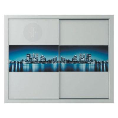 Vinilo-ilustración-de-ciudad-para-armario-de-diseno-2-puertas-de-corredera-Modelo-C