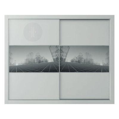 Vinilo-ilustración-de-ciudad-para-armario-de-diseno-2-puertas-de-corredera-Modelo-C2