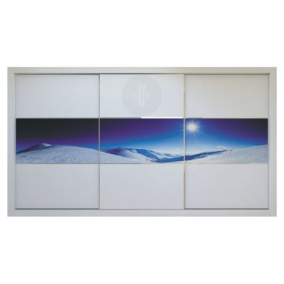 Vinilo-ilustración-de-paisaje-sierra-para-armario-de-diseno-3-puertas-de-corredera-Modelo-S