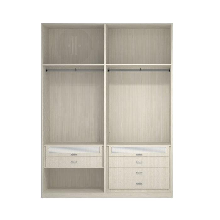 Interior de armario 2 m dulos en melamina dise o modelo mdgi6 - Diseno interior armario ...