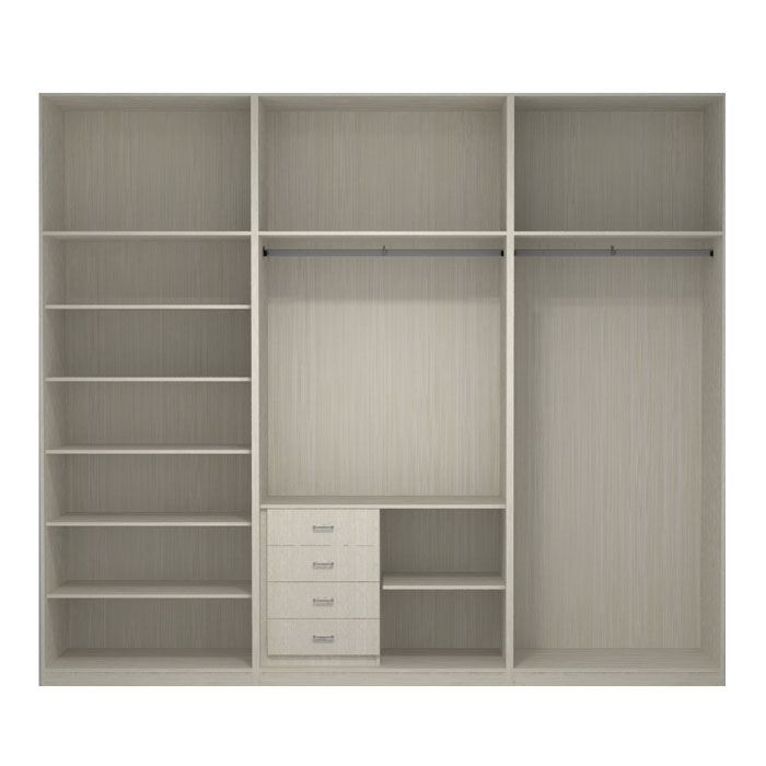 Interior de armario 3 m dulos en melamina dise o modelo mdgi3 - Diseno interior armario ...