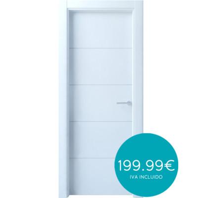 puertas *de entrada* lacada blanca R4