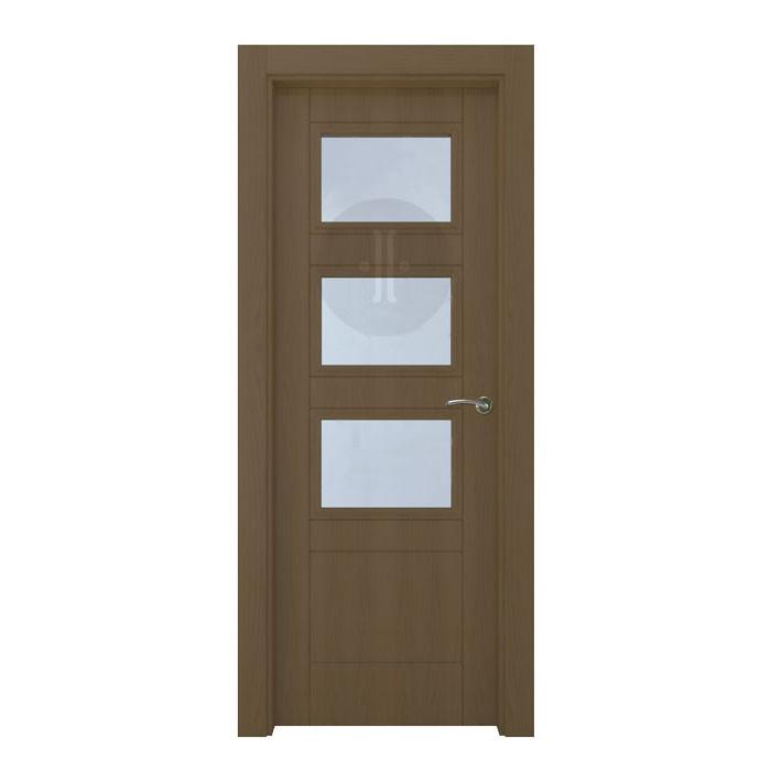 Puerta de interior de dise o en roble barnizada modelo for Diseno puerta