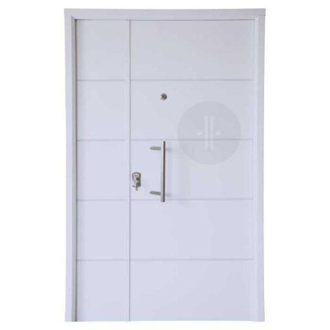 Puertas de entrada madegar m laga for Puertas de madera blancas para exterior