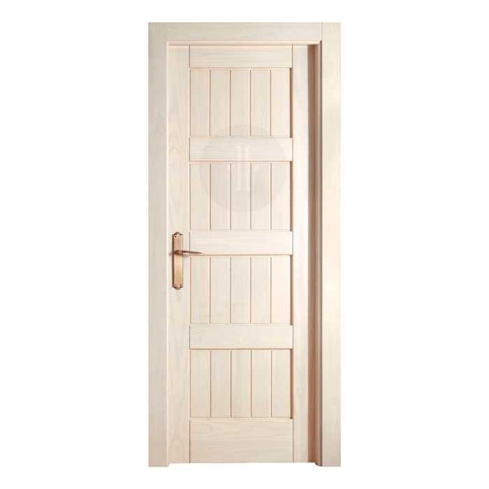 Puerta de interior cl sica en madera de pino modelo 660 - Puertas de madera en blanco ...