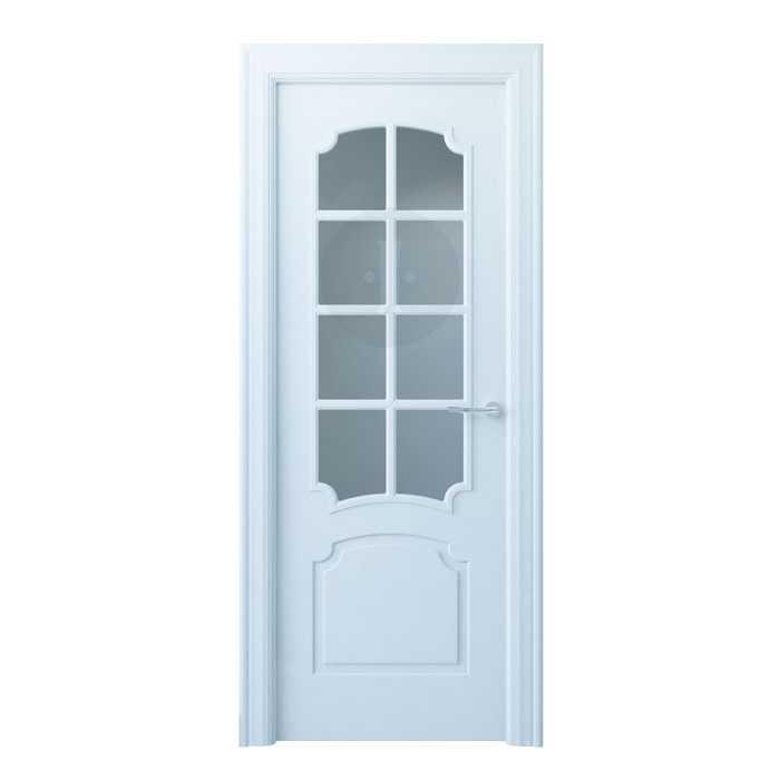 Puerta de interior cl sica lacada en blanco esquinas - Puerta lacada en blanco ...