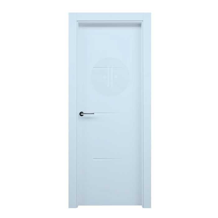 Puerta de interior de dise o lacada en blanco modelo aralar - Puertas de diseno interior ...