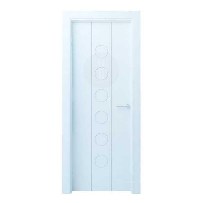 Puerta de interior de dise o lacada en blanco modelo hayedo r - Puertas de diseno interior ...