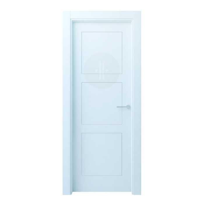Puerta de interior de dise o lacada en blanco modelo bertiz 3 - Puerta lacada en blanco ...