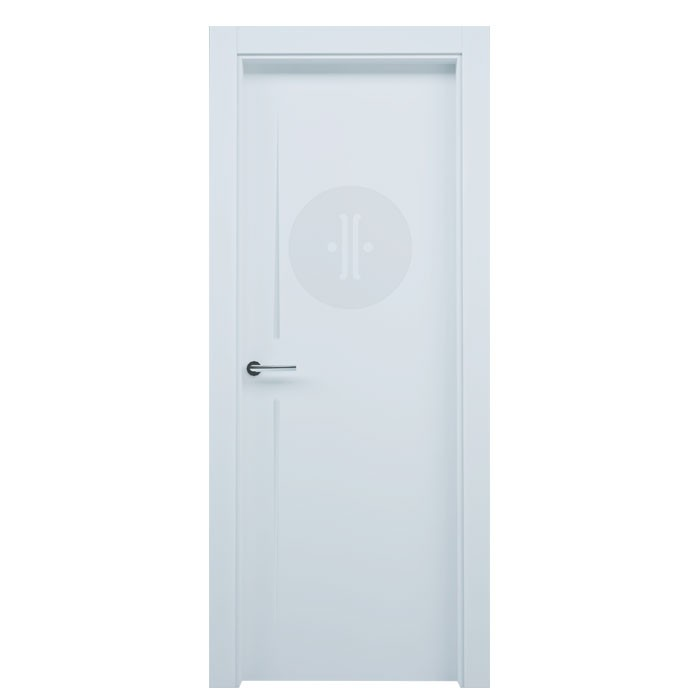 Puerta de interior de dise o lacada en blanco modelo besaya - Puertas de diseno interior ...
