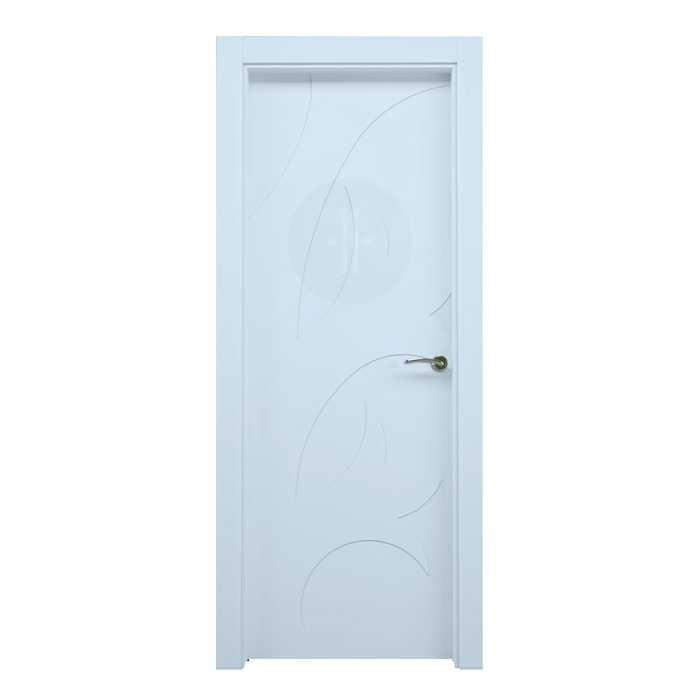 Puerta de interior de dise o lacada en blanco modelo flor - Puertas de diseno interior ...