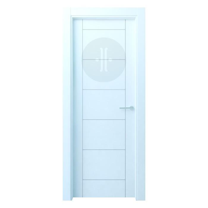 Puerta de interior de dise o lacada en blanco modelo - Puerta lacada en blanco ...