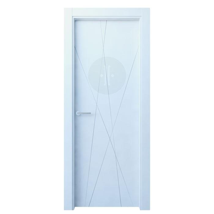 Puerta de interior de dise o lacada en blanco modelo gorbea - Puertas de diseno interior ...