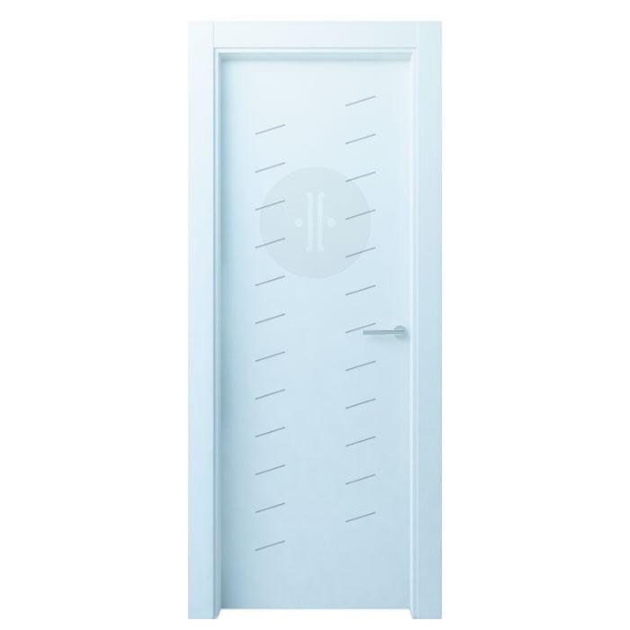 Puerta de interior de dise o lacada en blanco modelo pome 2 - Puertas de diseno interior ...