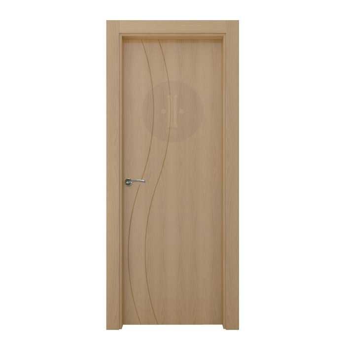 Puerta de interior de dise o en roble barnizado modelo for Puertas de roble interior