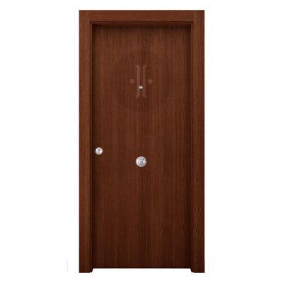 puerta-exterior-blindada-en-roble-castano-oscuro-poro-abiero-lisa