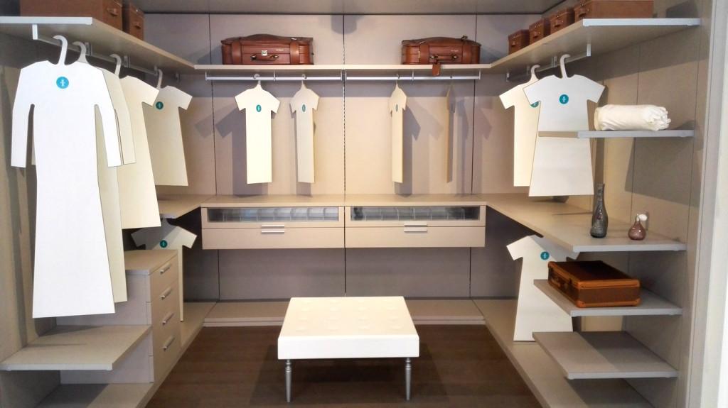 vestidor lacado color claro y tacto seda